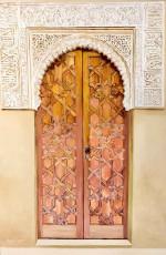 'Door at Alcazar Castle,' Spain